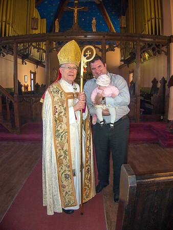 Joel, Annabelle, and Monsignor Wilkinson